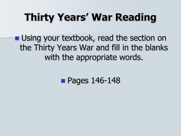 Thirty Years' War Reading