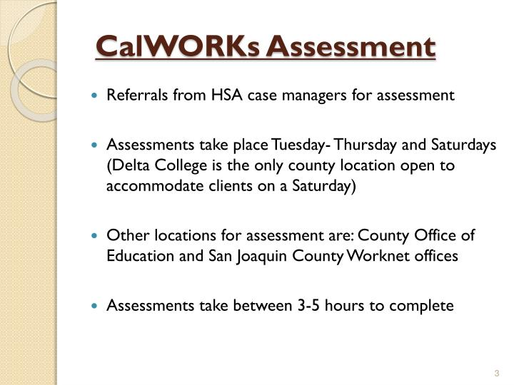CalWORKs Assessment
