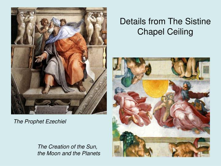 Details from The Sistine Chapel Ceiling