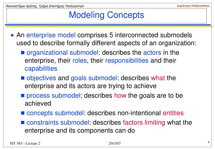 Modeling Concepts