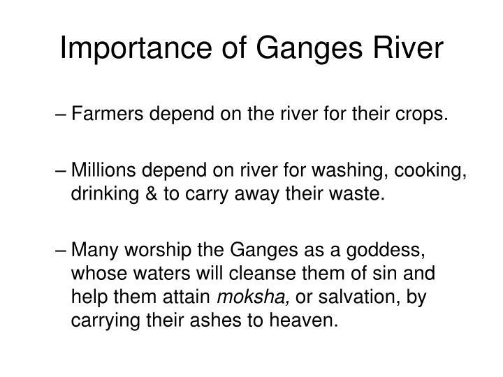 Importance of Ganges River