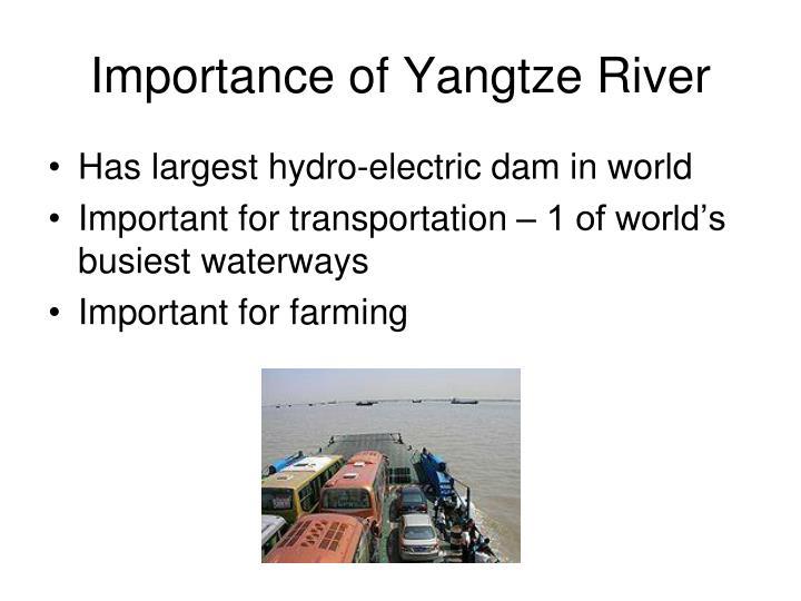 Importance of Yangtze River