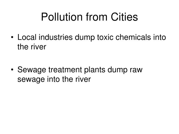 Pollution from Cities