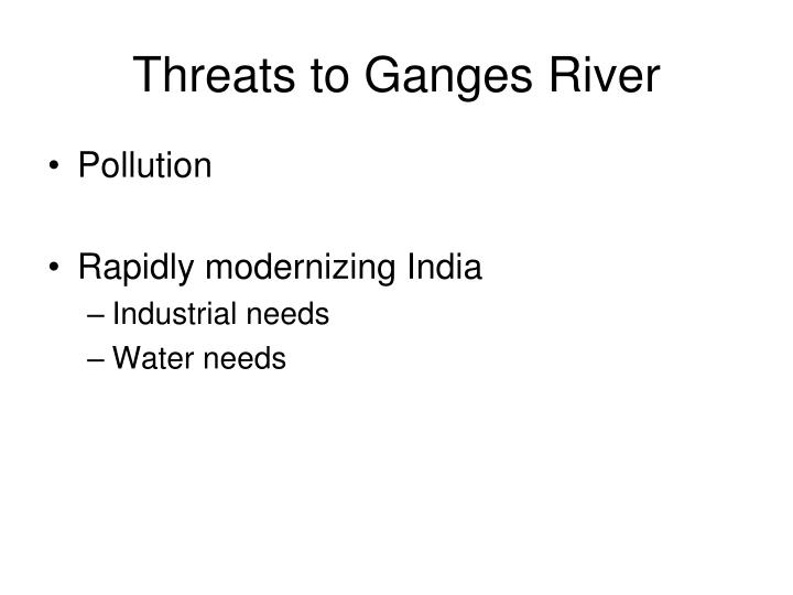 Threats to Ganges River
