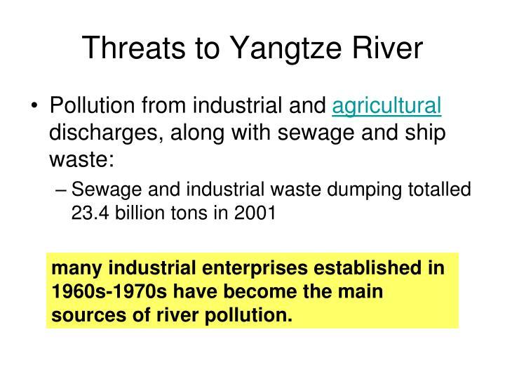 Threats to Yangtze River