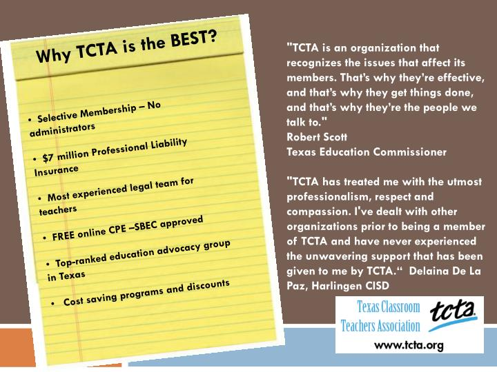 Why TCTA is the BEST?
