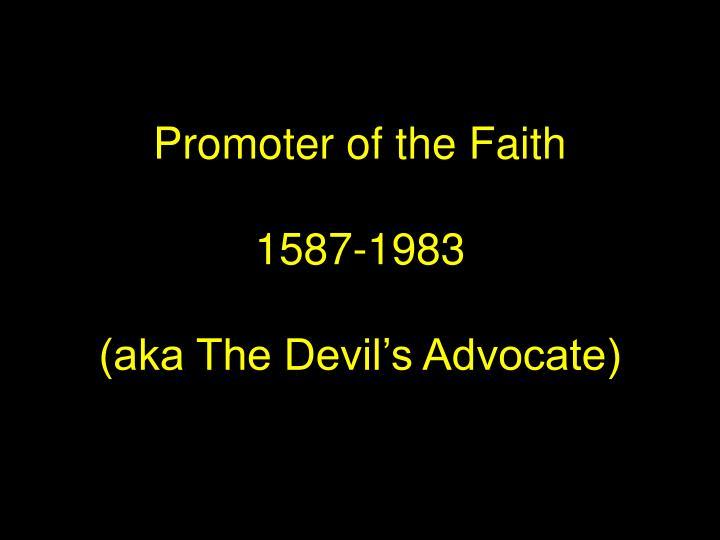 Promoter of the Faith