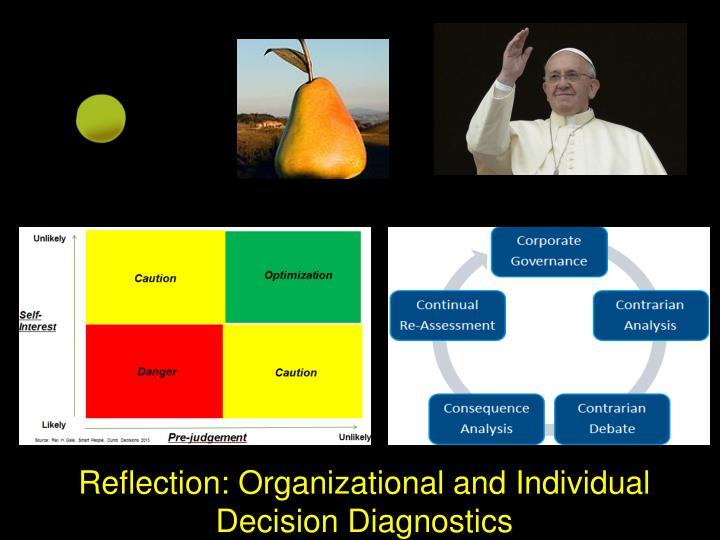 Reflection: Organizational and Individual Decision Diagnostics