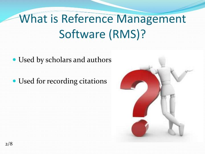 What is reference management software rms
