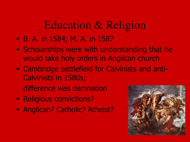 Education & Religion