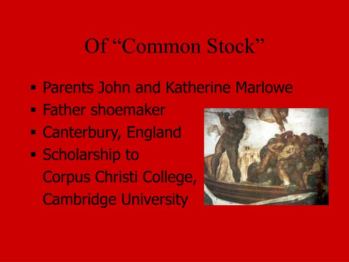 Of common stock