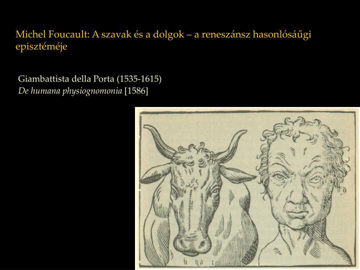 Michel Foucault: A szavak és a dolgok – a reneszánsz hasonlósáűgi episztéméje