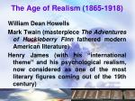 the age of realism 1865 1918