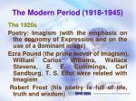the modern period 1918 1945