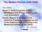 the modern period 1918 19451