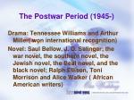 the postwar period 1945