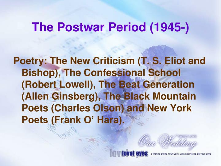 The Postwar Period (1945-)
