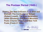 the postwar period 19451