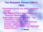 the romantic period 19th c 1865