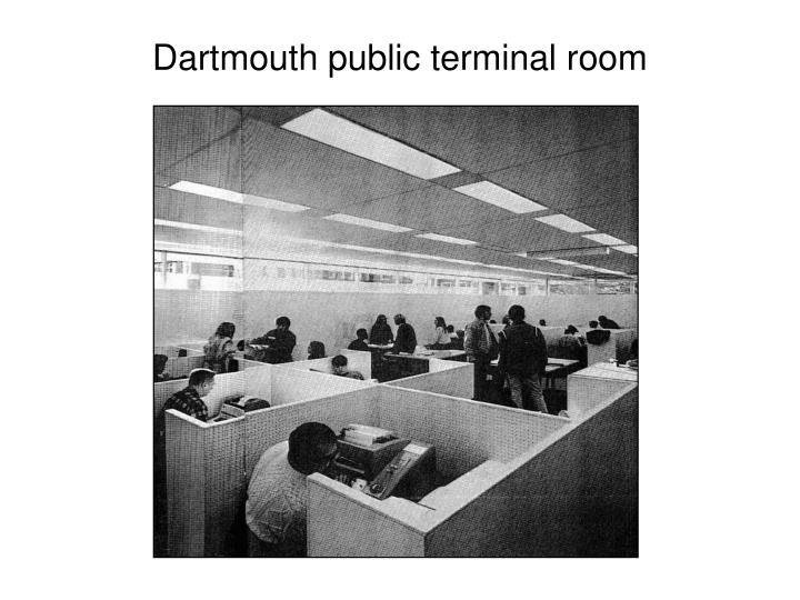 Dartmouth public terminal room