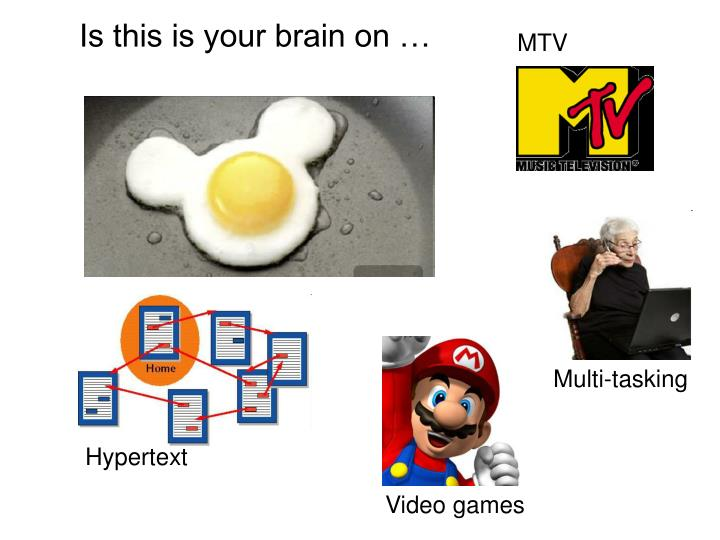 Is this is your brain on …