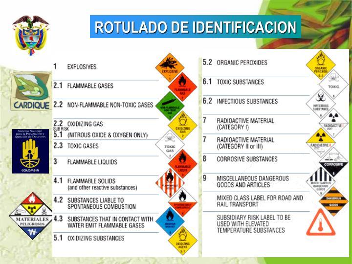 ROTULADO DE IDENTIFICACION