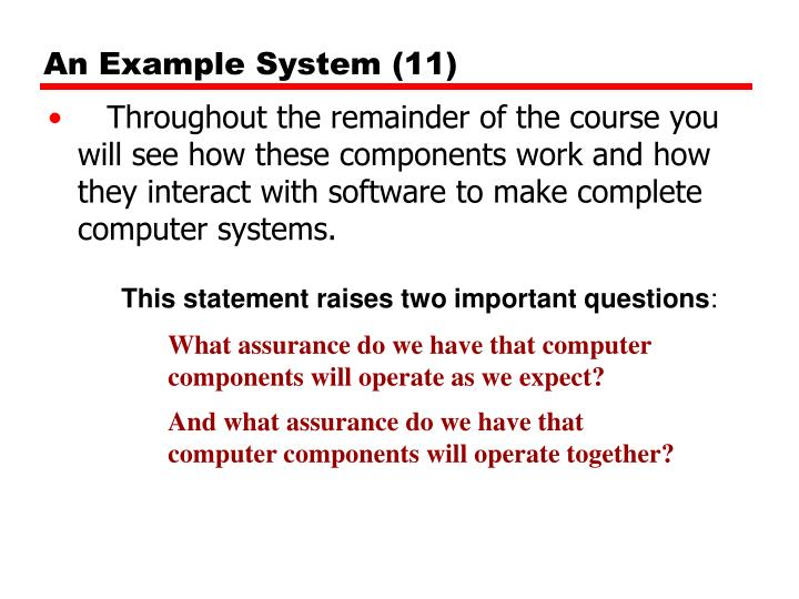 An Example System (11)