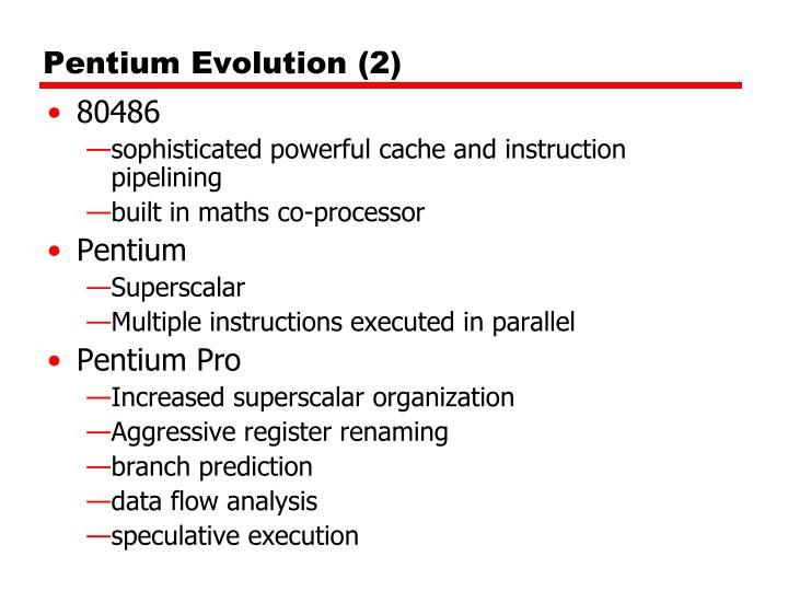 Pentium Evolution (2)