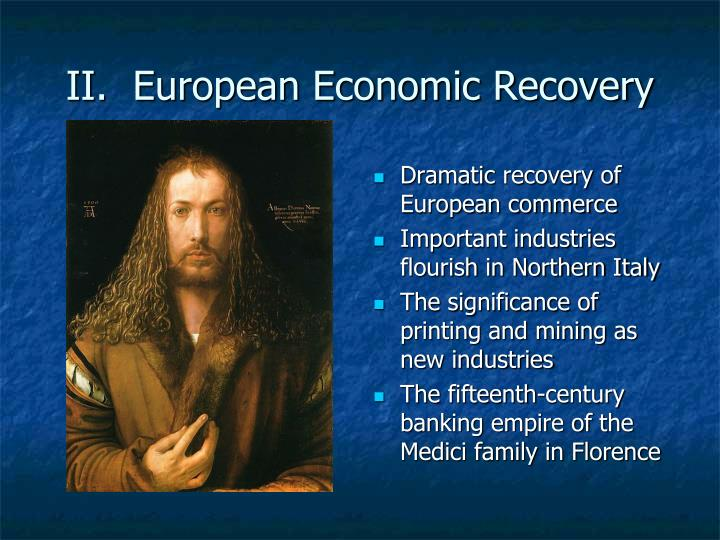 Ii european economic recovery