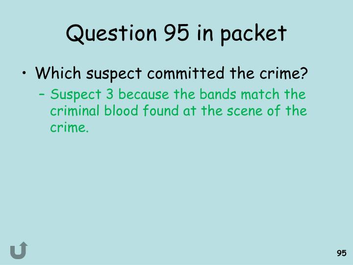 Question 95 in packet