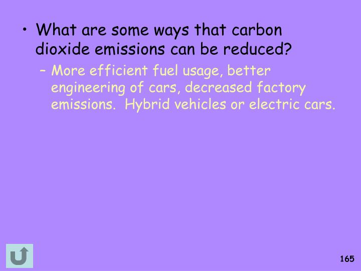 What are some ways that carbon dioxide emissions can be reduced?
