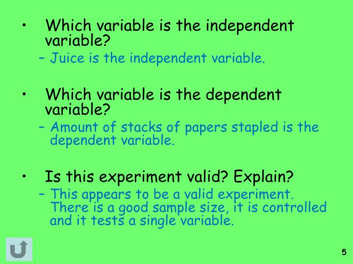 Which variable is the independent variable?