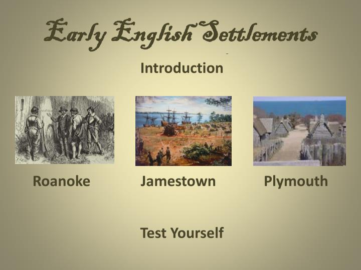 Early english settlements1