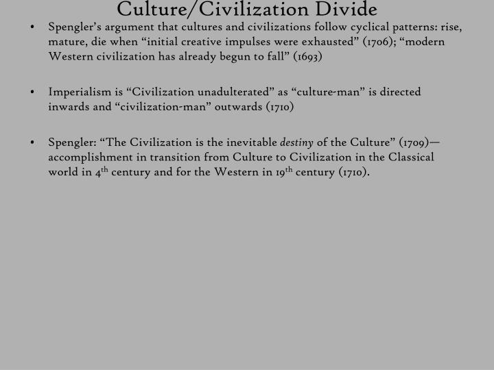 Culture/Civilization Divide