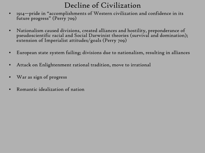 Decline of Civilization