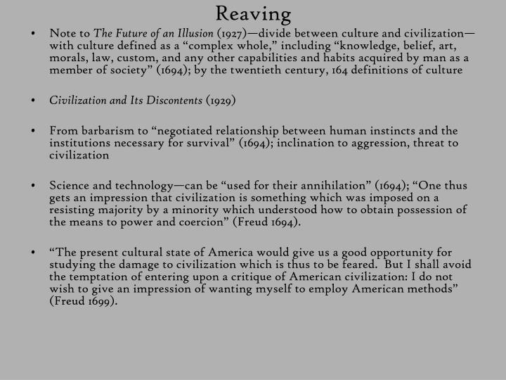 Reaving