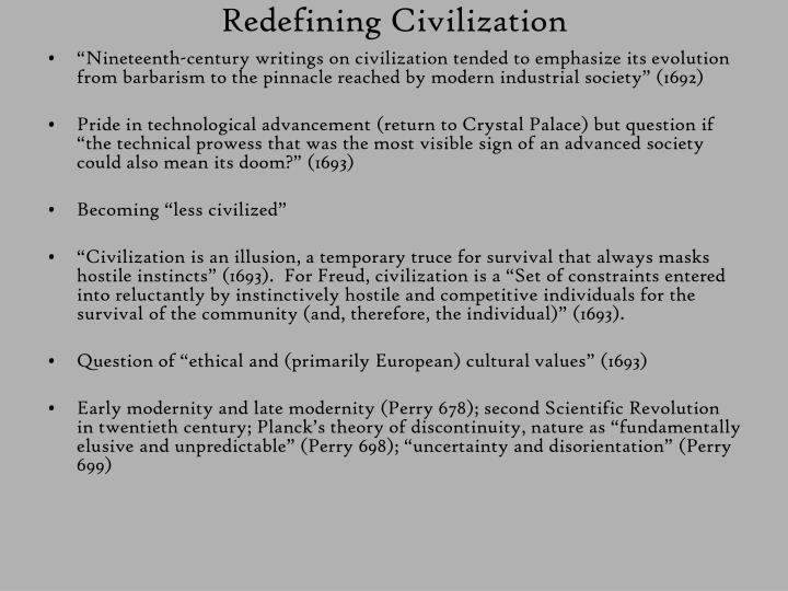 Redefining Civilization
