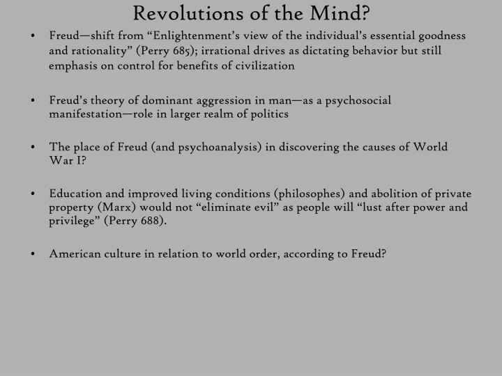 Revolutions of the Mind?