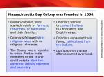 massachusetts bay colony was founded in 1630