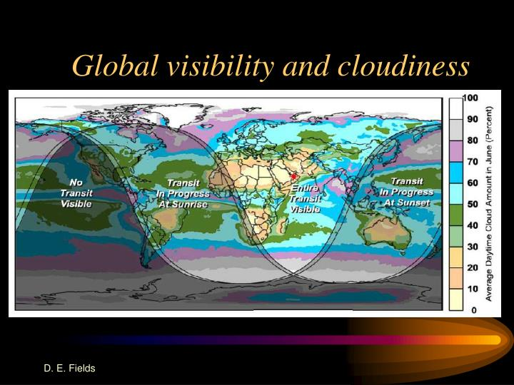 Global visibility and cloudiness