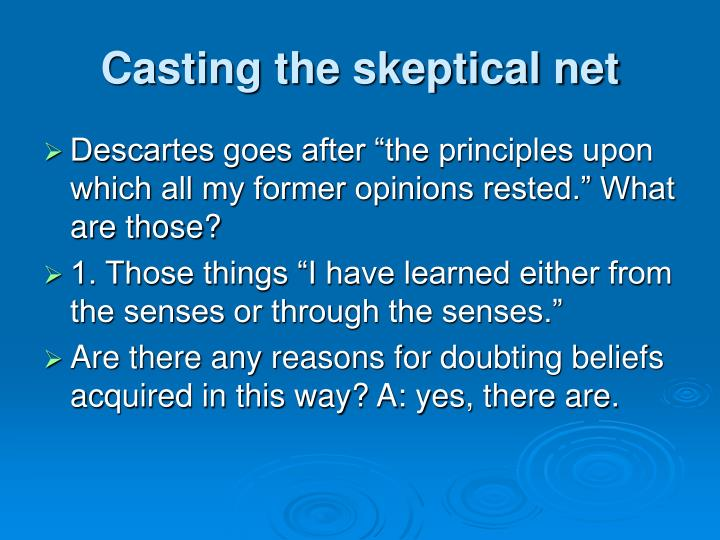 Casting the skeptical net