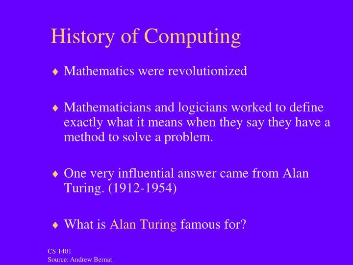 History of Computing