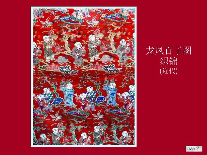 龙凤百子图织锦