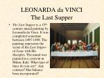 leonarda da vinci the last supper