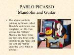 pablo picasso mandolin and guitar