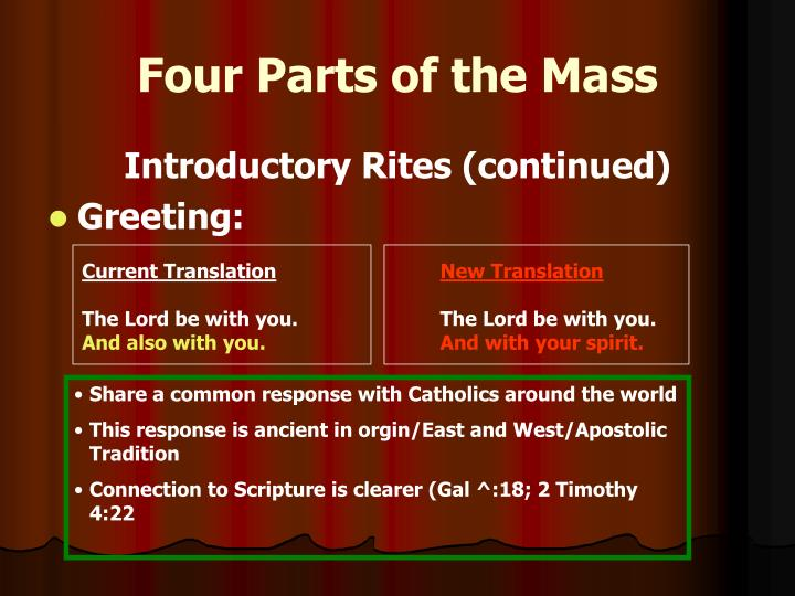 Four Parts of the Mass