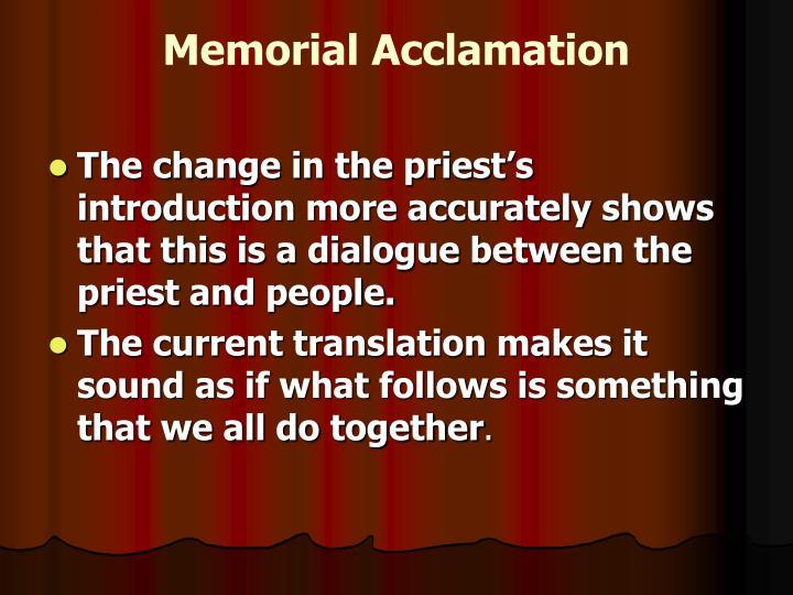 Memorial Acclamation