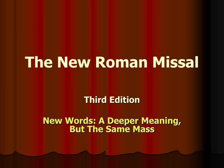 The New Roman Missal