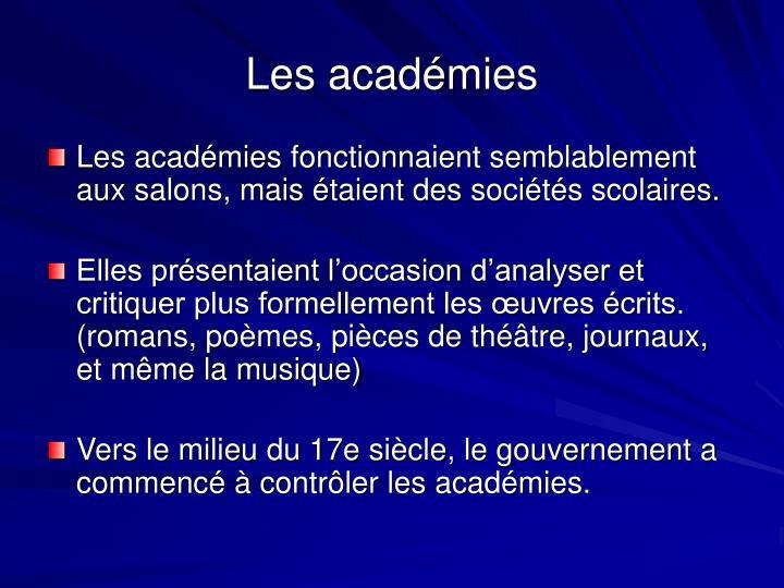 Les académies