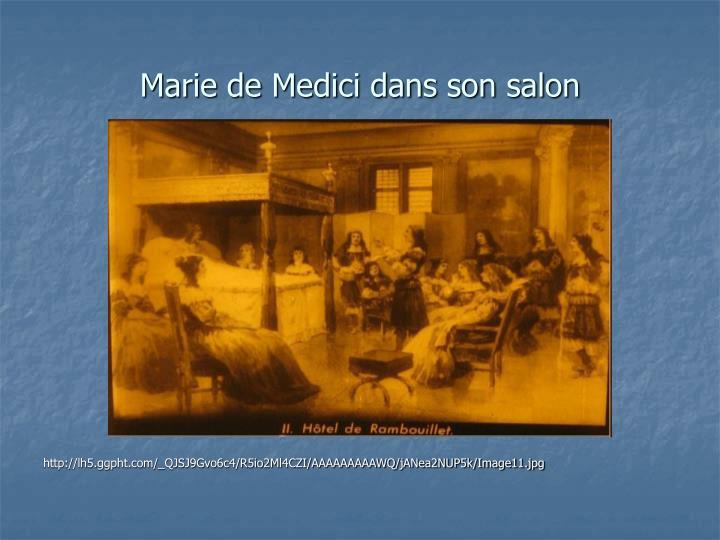 Marie de Medici dans son salon